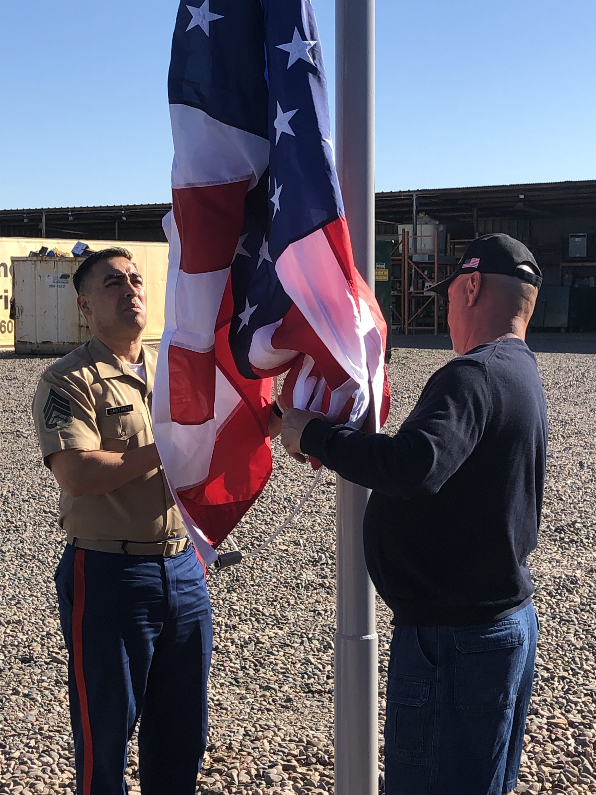 Marines Raise the Flag in Phoenix